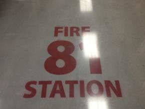 Fire Station Stencil
