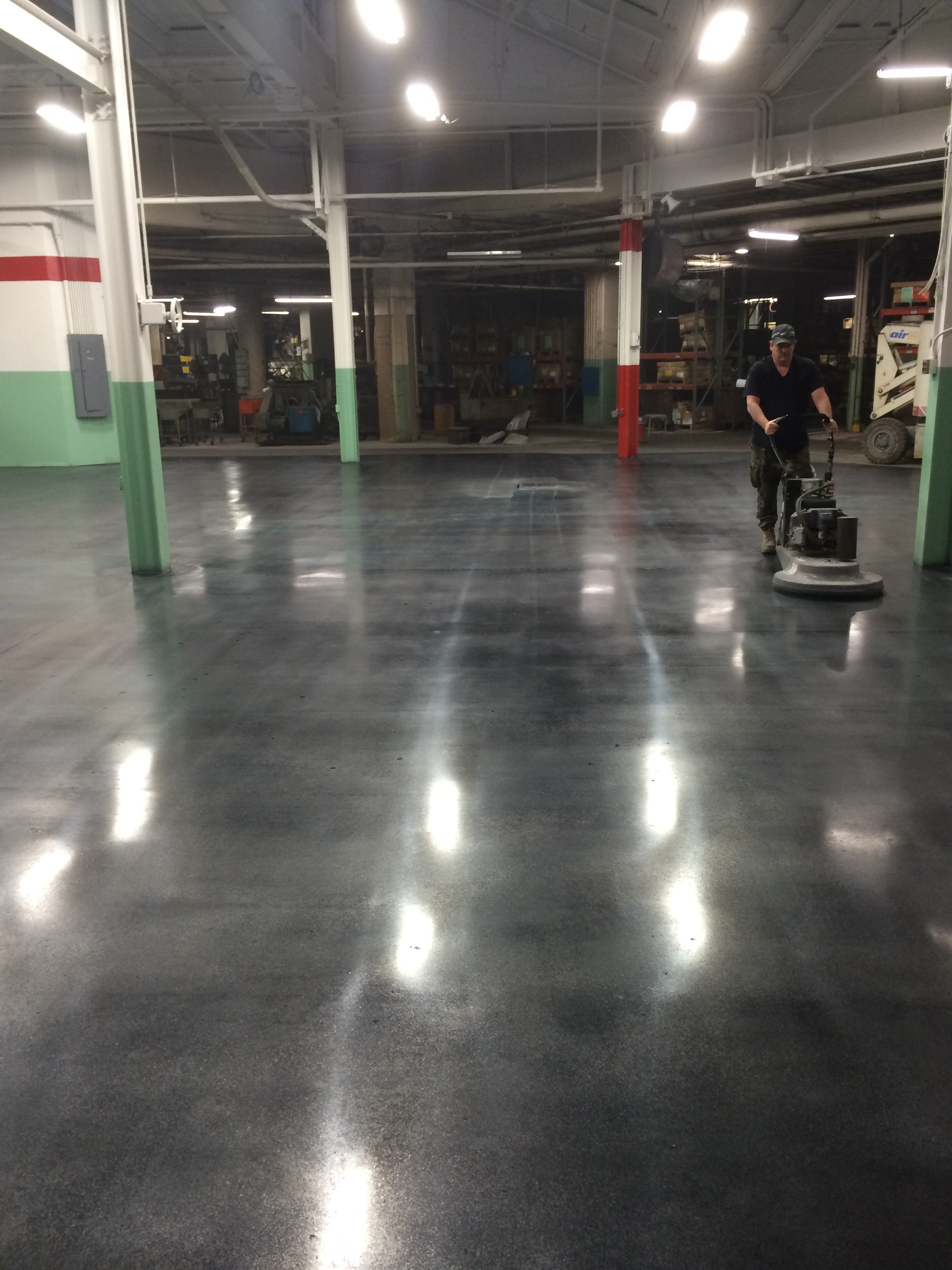 Browning chapman s exemplary floors emphasize the for Polished concrete maintenance