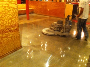 Torchy's Taco Shop Floor - burnishing