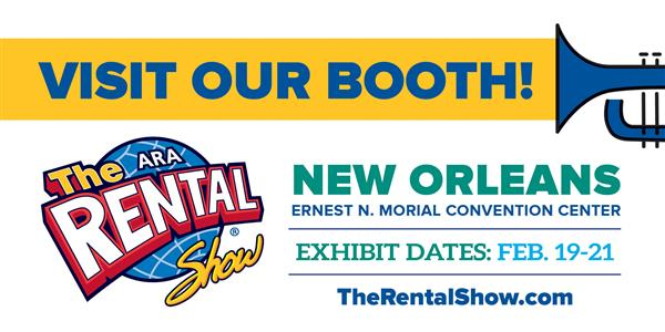 Visit our booth at The Rental Show #6912