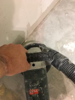 Thames Concrete Hand Grinding with Runyon Drift Dry Pads