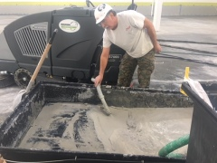 Power Trowel Polishing Job - Slurry Management